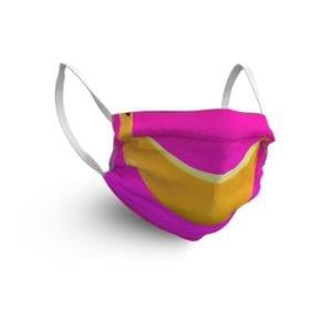 Gesichtsmaske mit Bananenmotiv