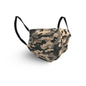 Gesichtsmaske mit Camouflagemotiv