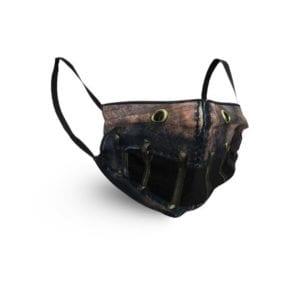 Gesichtsmaske mit Silence Blackprint Motiv