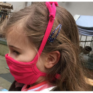 PICKAPOOH Mund- und Nasenmaske für Erwachsene und Kinder reine Bio-Baumwolle