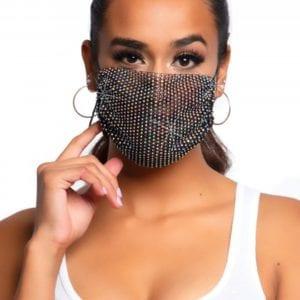 Gesichtsmasken-Überzug aus Strasssteinen