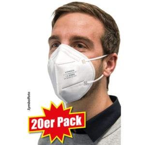 20er Pack FFP2-Schutzmasken