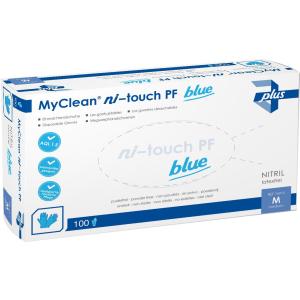 MaiMed® MyClean ni-touch Einmalhandschuhe, Nitril, blau, Hochwertige Einweghandschuhe ideal für die häusliche Krankenpflege, 1 Karton = 10 Packungen = 1000 Stück, Größe: L