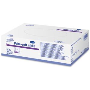 Peha-soft® Einmalhandschuhe, Nitril, ungepudert, Latexfreier Untersuchungshandschuh in blau, powderfree, 1 Packung = 100 Stück, Größe S, klein