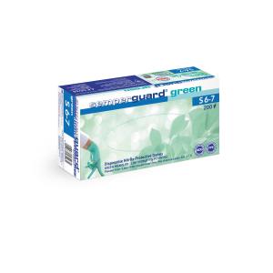Semperguard® Einmalhandschuhe Green, Nitril, Sehr hautfreundlicher Einweghandschuh aus Nitril, frei von Beschleunigern, 1 Karton = 10 Packungen = 2000 Stück, Größe S (6-7)