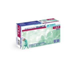 Semperguard® Einmalhandschuhe Green, Nitril, Sehr hautfreundlicher Einweghandschuh aus Nitril, frei von Beschleunigern, 1 Karton = 10 Packungen = 2000 Stück, Größe L (8-9)