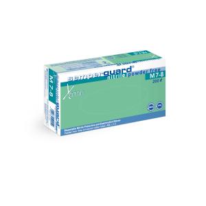 Semperguard® Einmalhandschuhe, Nitril, Xenon, Puderfrei, Farbe: weiß, 1 Karton = 10 Packungen = 2.000 Stück, Größe M