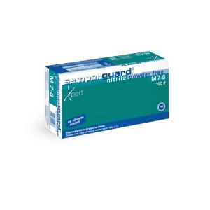 Semperguard® Einmalhandschuhe Nitril Xpert, Hautfreundliche, blaue Einweghandschuhe, 1 Packung = 100 Stück, Größe: M