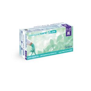 Sempercare® Untersuchungshandschuhe Green, Nitril, Sehr hautfreundlicher Einweghandschuh aus Nitril, frei von Beschleunigern, 1 Karton = 10 x 180 Stück = 1800 Stück, Größe: XL
