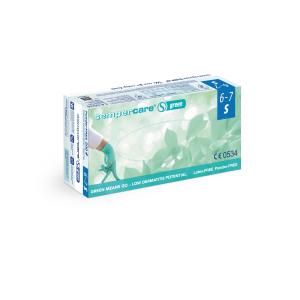Sempercare® Untersuchungshandschuhe Green, Nitril, Sehr hautfreundlicher Einweghandschuh aus Nitril, frei von Beschleunigern, 1 Karton = 10 x 200 Stück = 2000 Stück, Größe: S