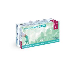Sempercare® Untersuchungshandschuhe Green, Nitril, Sehr hautfreundlicher Einweghandschuh aus Nitril, frei von Beschleunigern, 1 Karton = 10 x 200 Stück = 2000 Stück, Größe: L