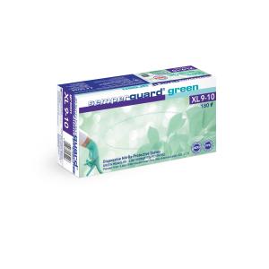 Semperguard® Einmalhandschuhe Green, Nitril, Sehr hautfreundlicher Einweghandschuh aus Nitril, frei von Beschleunigern, 1 Packung = 180 Stück, Größe XL (9-10)