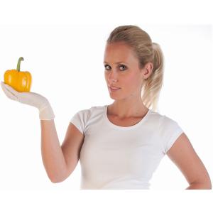 Hygonorm® Nitrilhandschuhe Allfood Safe, puderfrei, weiß, Einweghandschuh ist optimal für die Lebensmittelverarbeitung, 1 Karton = 10 Packungen = 2500 Stück, Größe: S